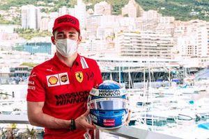 Charles Leclerc, Ferrari con il casco per Monaco