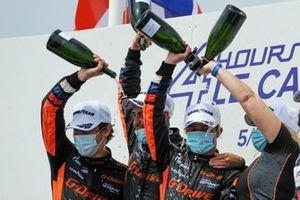 Podium: #26 G-Drive Racing Aurus 01 - Gibson: Roman Rusinov, Franco Colapinto, Nyck De Vries