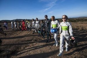 Johan Kristoffersson, Rosberg X Racing, Stephane Sarrazin, Veloce Racing, y Emma Gilmour, Veloce Racing