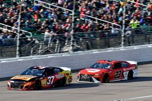 Ryan Preece, JTG Daugherty Racing, Chevrolet Camaro Louisiana Hot Sauce and Bubba Wallace, 23XI Racing, Toyota Camry Door Dash