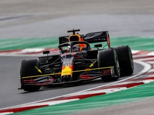 Max Verstappen, Red Bull RB16, captioned