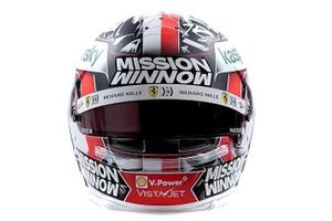 Helm van Charles Leclerc, Ferrari