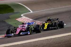 Lance Stroll, Racing Point RP20 , Esteban Ocon, Renault F1 Team R.S.20