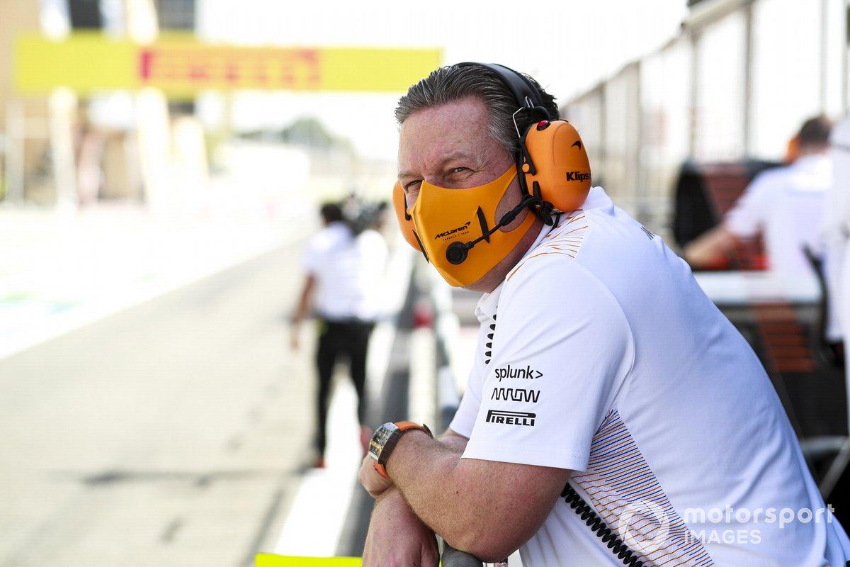 Zak Brown, CEO, de McLaren Racing