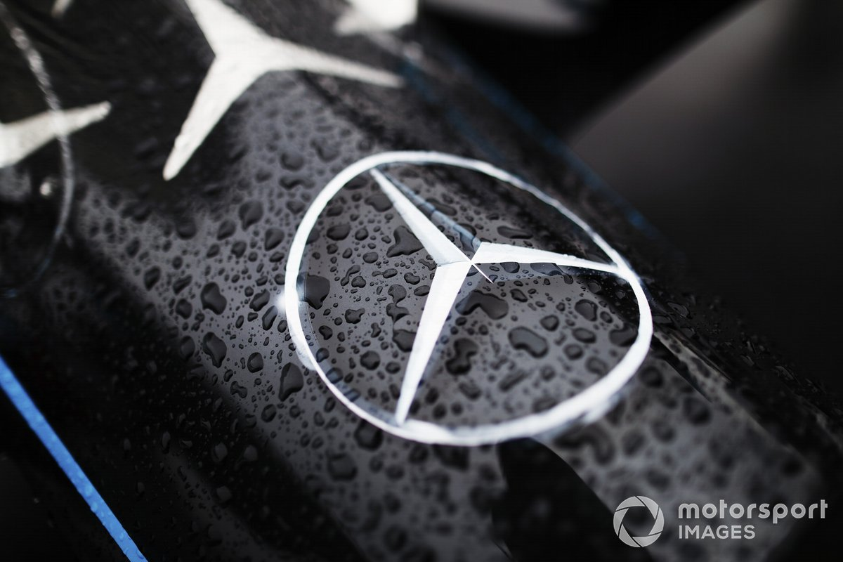 Mercedes badge on the Mercedes Benz EQ, EQ Silver Arrow 02