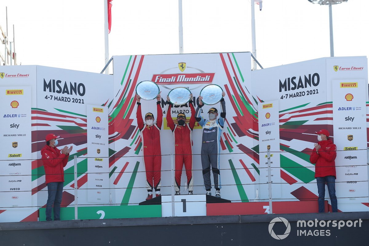 Podio classe PRO AM: primo posto Michael Simoncic, Baron Motorsport, secondo posto Alex Fox, SF Grand Est Mulhouse e a terzo posto Matus Vyboh, Scuderia Praha