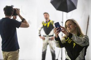 Mikaela Ahlin-Kottulinsky, JBXE Extreme-E Team takes a selfie