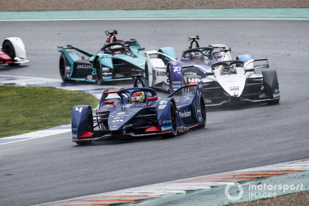 Robin Frijns, Envision Virgin Racing, Audi e-tron FE07, Edoardo Mortara, Venturi Racing, Silver Arrow 02, Jake Dennis, BMW i Andretti Motorsport, BMW iFE.21, Mitch Evans, Jaguar Racing, Jaguar I-TYPE 5