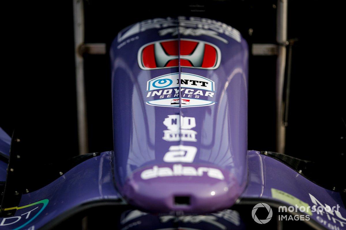 Detalle de frente del coche de Romain Grosjean, Dale Coyne Racing with RWR Honda