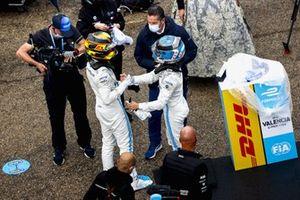 Race winner Nyck de Vries, Mercedes-Benz EQ, EQ Silver Arrow 02, Stoffel Vandoorne, Mercedes-Benz EQ, EQ Silver Arrow 02 celebrate in Parc Ferme