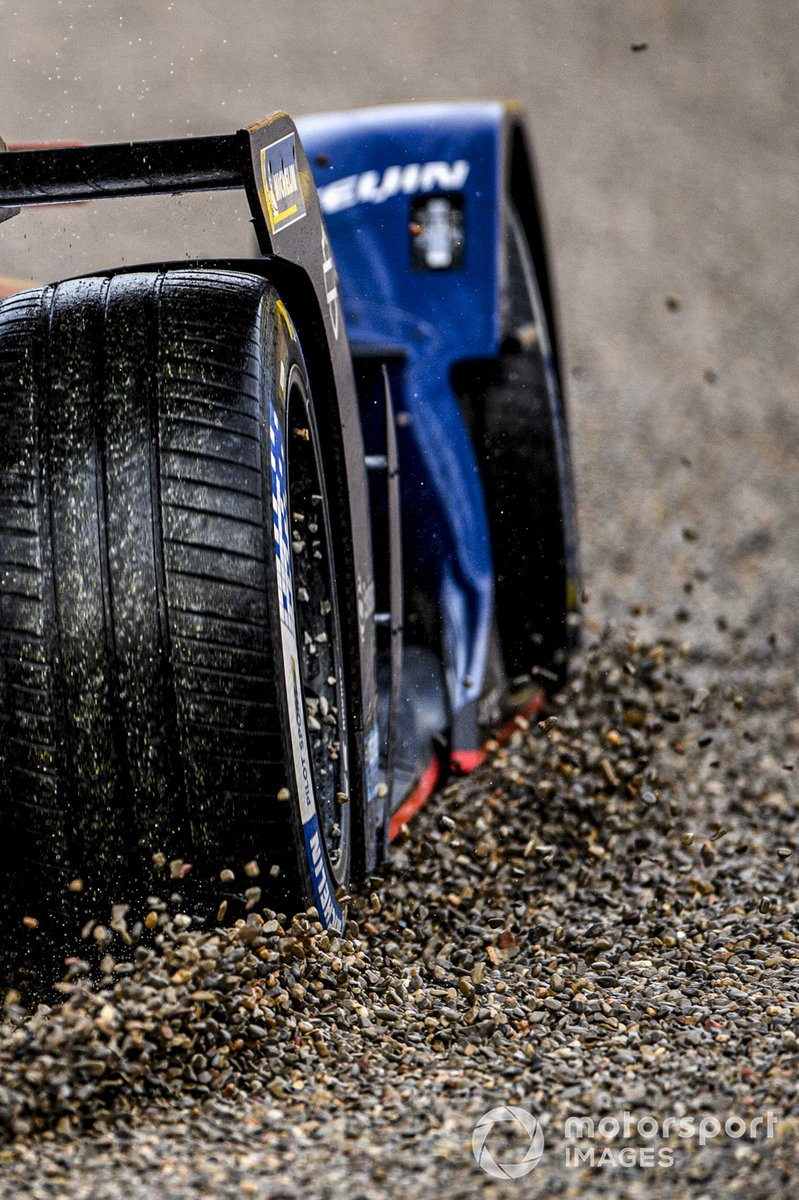 Robin Frijns, Envision Virgin Racing, Audi e-tron FE07, en la grava