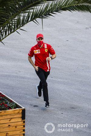 Sebastian Vettel, Ferrari running in the paddock