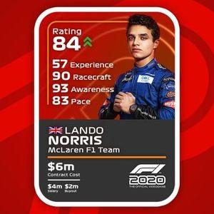 Cartas del F1 2020 definitivas: Lando Norris
