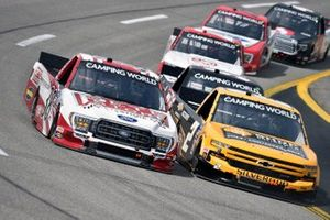 Todd Gilliland, Front Row Motorsports, Ford F-150 and Sheldon Creed, GMS Racing, Chevrolet Silverado Chevy Accessories