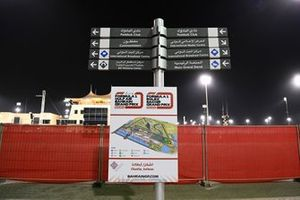 Signage and directions at the circuit