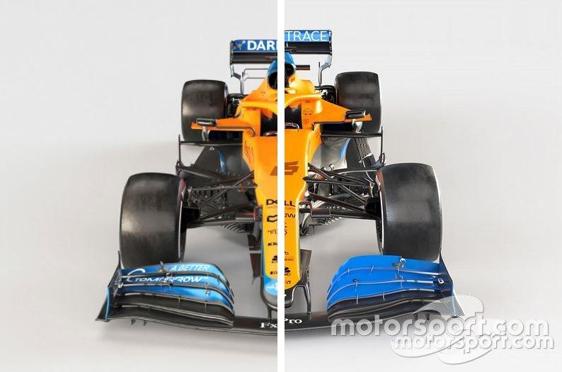 McLaren MCL35M (2021) vs. McLaren MCL35 (2020)
