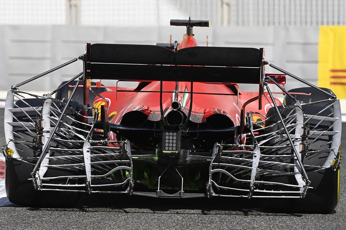 Sebastian Vettel, Ferrari SF1000 con i sensori al posteriore per i test aerodinamici
