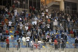 Fans op de tribune