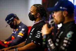 Winnaar Lewis Hamilton, Mercedes in de persconferentie