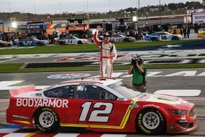 Race winner Ryan Blaney, Team Penske, Ford Mustang BodyArmor