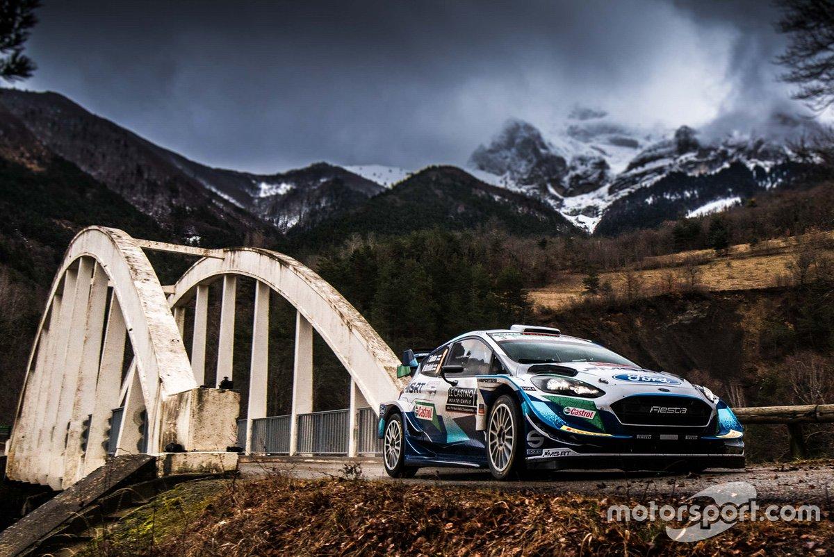 Teemu Suninen, Mikko Markkula, M-Sport Ford WRT Ford Fiesta WRC melintasi jembatan