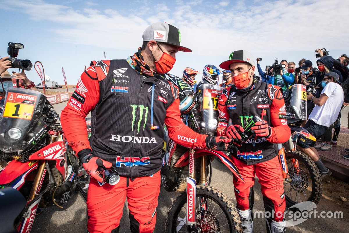 #1 Monster Energy Honda Team: Ricky Brabec, #47 Monster Energy Honda Team: Kevin Benavides