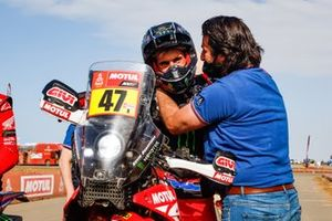 #47 Monster Energy Honda Team: Kevin Benavides, David Castera, Director of the Dakar Rally