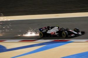 Sparks kick up from Kevin Magnussen, Haas VF-20