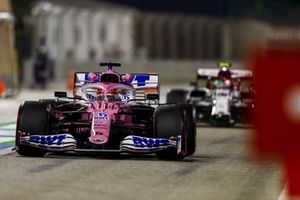 Sergio Perez, Racing Point RP20, Antonio Giovinazzi, Alfa Romeo Racing C39