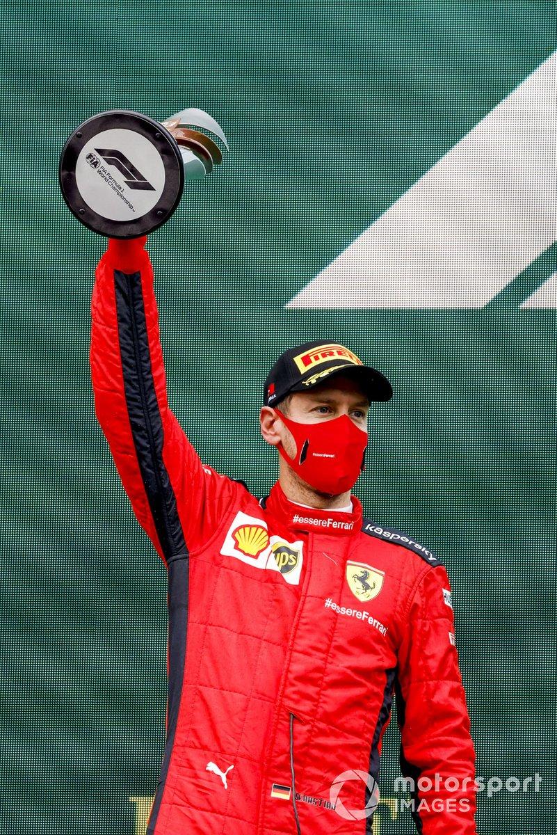 Podio: tercer lugar Sebastián Vettel, Ferrari