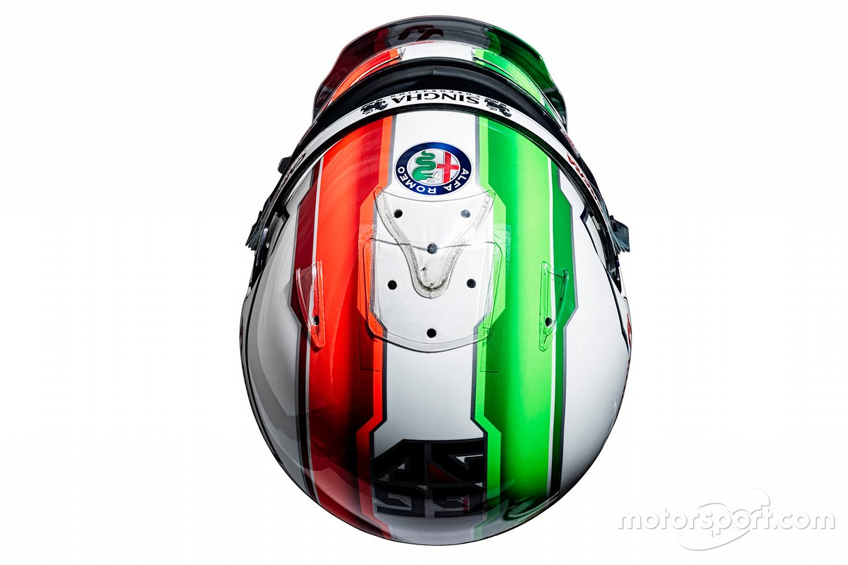Casque d'Antonio Giovinazzi, Alfa Romeo Racing