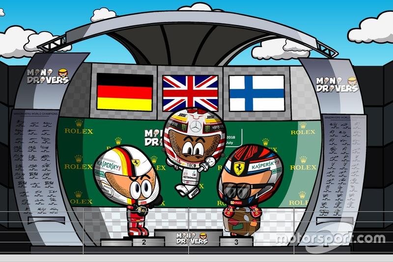 El podio del GP de Hungría de Fórmula 1 2018, por MiniDrivers