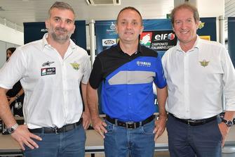 Simone Folgori, Responsabile ELF CIV, Luca Lussana, Racing & Off Road Specialist e Giovanni Copioli, Presidente FMI
