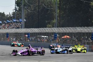 Santino Ferrucci, Dale Coyne Racing Honda, Takuma Sato, Rahal Letterman Lanigan Racing Honda