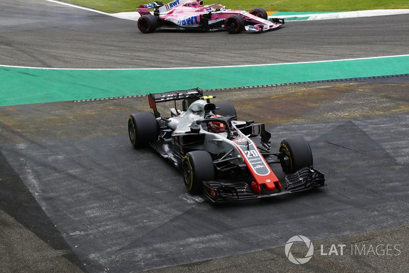 Kevin Magnussen, Haas F1 Team VF-18 se va de largo
