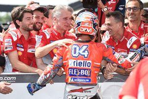 Ganador de la pole Andrea Dovizioso, Ducati Team, Ciabatti