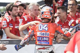 Polesitter Andrea Dovizioso, Ducati Team, Ciabatti