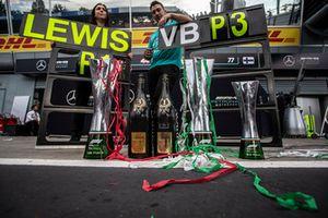 Mercedes AMG F1 trophies