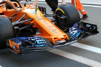 McLaren MCL33 ala trasera