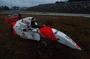 Unfallauto von Martin Brundle, McLaren MP4/9