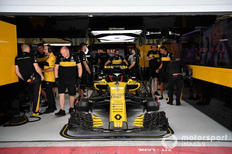 La voiture de Nico Hulkenberg, Renault Sport F1 Team R.S. 18