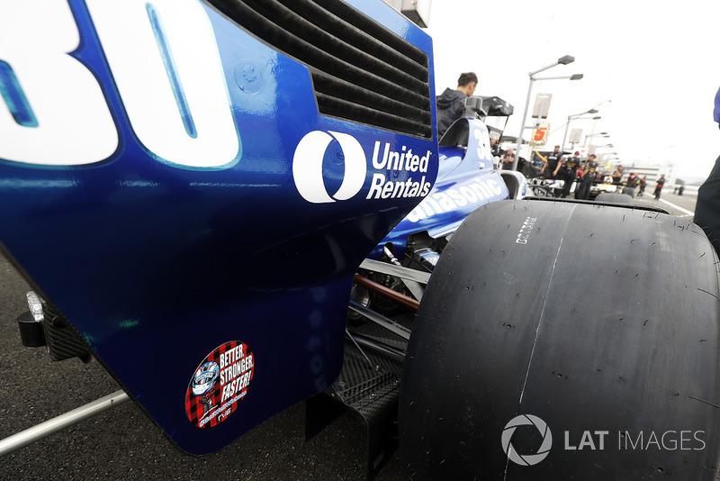 Takuma Sato, Rahal Letterman Lanigan Racing Honda, Robert Wickens sticker
