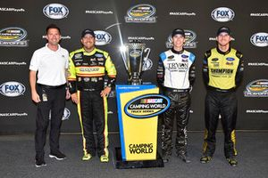 Ford playoff drivers, Matt Crafton, ThorSport Racing, Ford F-150 Great Lakes Wood Floors/Menards, Ben Rhodes, ThorSport Racing, Ford F-150 FEI World Equestrian Games and Grant Enfinger, ThorSport Racing, Ford F-150 Champion Power Equipment
