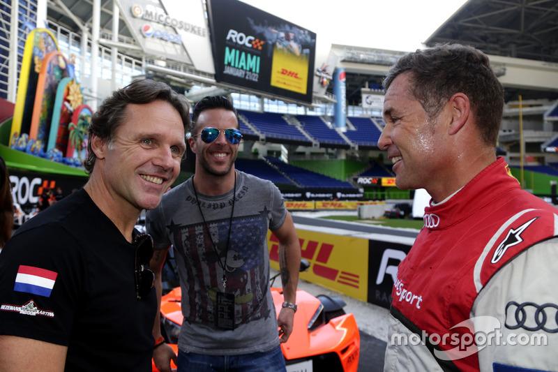 Mike Hezemanns, Anthony Kumpen and Tom Kristensen