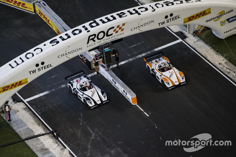 Tim Nordik, Tom Kristensen, kontra tim Jerman, Sebastian Vettel, dengan mobil Radical SR3 RSX