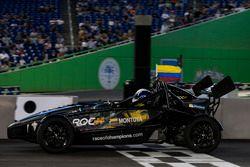 Juan Pablo Montoya, driving the Ariel Atom Cup