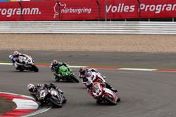 Rubén Xaus, Ducati; Michel Fabrizio, Ducati; Karl Muggeridge, Honda