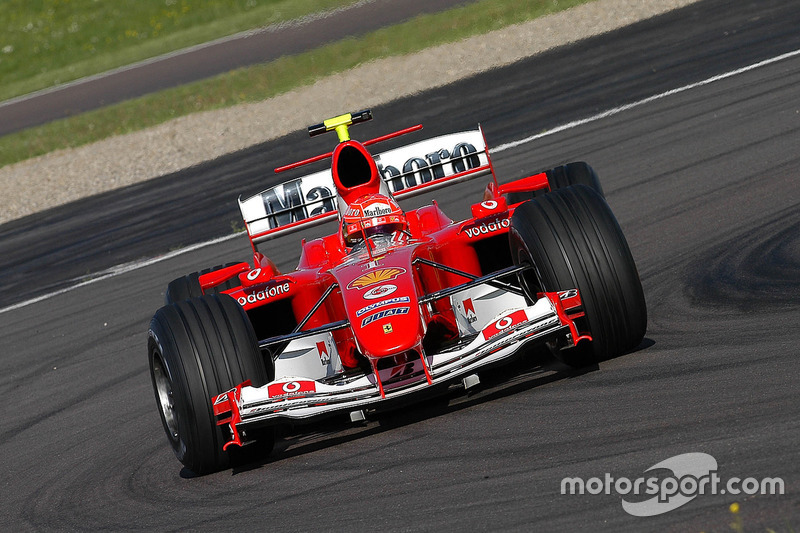 Valentino Rossi drives Ferrari F2004 at Fiorano