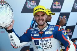 Podium: race winner Romano Fenati, Marinelli Rivacold Snipers