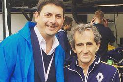 Roberto Diacetti, presidente di EUR SpA, con Alain Prost